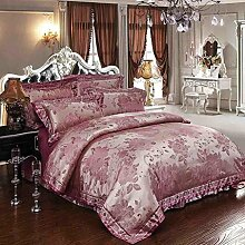 Europäische Luxus-Vier-Bett-Bettwäsche Bettwäsche Decke (1 Bettwäsche + 1 Bettdecke + 1 Kissenbezug) , 4 , 1.5/1.8m bed