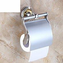 Europäische massivem Messing Handtuchhalter/Toilettenpapier-Regal/Toilettenpapierhalter/Toilettenpapier Box für Bad/WC/Box Papier Toilettenpapierhalter