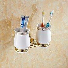 Europäische Messing Zahnbürste Cup Kit/Bad Becherhalter/ Zahnbürstenhalter Kit/Becher-B