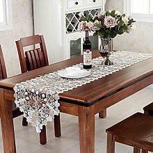 Europäische minimalistischen modernes long-table-flag tv-schrank tee tischläufer spitzen-stoff garden rechteckige tischtuch flagge-A 40x70cm(16x28inch)