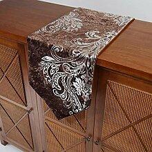 Europäische Mode Velour Stoff Tischläufer/heißen Silber Tisch-Tischläufer/Coffee Table Tischläufer/Bett Renner/Schuh-Tischläufer-A 30x180cm(12x71inch)