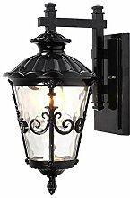 Europäische Outdoor LED Glas Wandleuchte Leuchte,