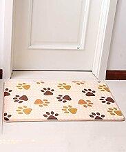 Europäische Pastoral Teppich Wasserabsorption Rutschfeste Rechteck Badezimmer Wohnzimmer Sofa Teppich Hall Schlafzimmer Teppich ( Farbe : C , größe : 100*100CM )