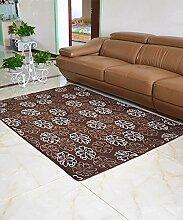 Europäische Pastoral Teppich Wasserabsorption Rutschfeste Rechteck Badezimmer Wohnzimmer Teppich Hall Schlafzimmer Teppich ( Farbe : C , größe : 80*160cm )