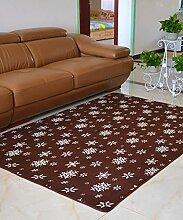 Europäische Pastoral Teppich Wasserabsorption Rutschfeste Rechteck Badezimmer Wohnzimmer Teppich Hall Schlafzimmer Teppich ( Farbe : C , größe : 140*200CM )