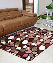 Europäische Pastoral Teppich Wasserabsorption Rutschfeste Rechteck Badezimmer Wohnzimmer Teppich Hall Schlafzimmer Teppich ( Farbe : A , größe : 50*80CM )