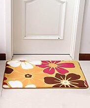 Europäische Pastoral Teppich Wasserabsorption Rutschfeste Rechteck Badezimmer Wohnzimmer Sofa Teppich Hall Schlafzimmer Teppich ( Farbe : D , größe : 100*100CM )