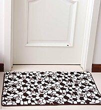 Europäische Pastoral Teppich Wasserabsorption Rutschfeste Rechteck Badezimmer Wohnzimmer Sofa Teppich Hall Schlafzimmer Teppich ( Farbe : D , größe : 120*160CM )