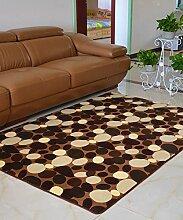 Europäische Pastoral Teppich Wasserabsorption Rutschfeste Rechteck Badezimmer Wohnzimmer Teppich Hall Schlafzimmer Teppich ( Farbe : E , größe : 120*200CM )