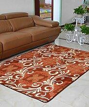 Europäische Pastoral Teppich Wasserabsorption Rutschfeste Rechteck Badezimmer Wohnzimmer Teppich Hall Schlafzimmer Teppich ( Farbe : E , größe : 65*160CM )