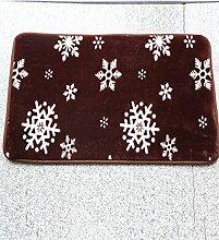 Europäische Pastoral Teppich Wasserabsorption Rutschfeste Rechteck Badezimmer Wohnzimmer Sofa Teppich Hall Schlafzimmer Teppich ( Farbe : E , größe : 100*100CM )