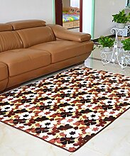 Europäische Pastoral Teppich Wasserabsorption Rutschfeste Rechteck Badezimmer Wohnzimmer Teppich Hall Schlafzimmer Teppich ( Farbe : D , größe : 80*160cm )