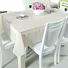 Europäische pastorale Spitze Tischdecke/Hot-Ölbeweis Einweg-Tischdecken/PVCwasserdichte Tapete/Tischdecke decke-O 100x136cm(39x54inch)