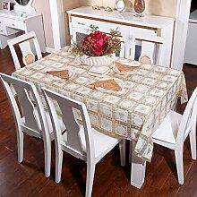 Europäische pastorale Spitze Tischdecke/Hot-Ölbeweis Einweg-Tischdecken/PVCwasserdichte Tapete/Tischdecke decke-U 60x136cm(24x54inch)