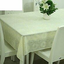 Europäische pastorale Spitze Tischdecke/Hot-Ölbeweis Einweg-Tischdecken/PVCwasserdichte Tapete/Tischdecke decke-E 120x136cm(47x54inch)