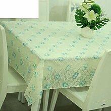 Europäische pastorale Spitze Tischdecke/Hot-Ölbeweis Einweg-Tischdecken/PVCwasserdichte Tapete/Tischdecke decke-L 120x136cm(47x54inch)