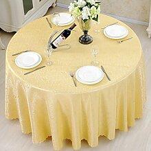 Europäische Pearl gelbe Tischdecke/ rote Hochzeit Tischdecke/ Hotel Hotel Restaurant Tischdecken/ Runder Tisch Platz Tischdecken-B 120x180cm(47x71inch)