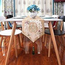 Europäische Qualitativ Hochwertige Luxus-tischläufer Tee Tischläufer Bett-runner Wohnzimmer Dekorativen Tischläufer-A 32x220cm(13x87inch)