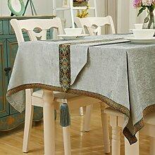Europäische Rechteck Tischdecke/Tee-blau Tischdecke/Clean Cotton-D 60x60cm(24x24inch)