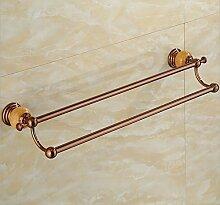 Europäische Rose Gold Zweipolige Handtuchhalter Badezimmer Badezimmer Kleiderbügel Kleiderbügel