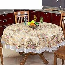 Europäische runde Tischdecke, runde Tischdecken]