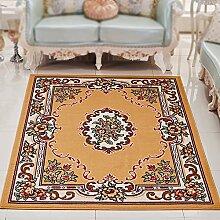 Europäische schlafzimmer wohnzimmer kaffeematte / bett vorderes zimmer sofa teppich matratze rechteckige dekoration ( Farbe : Camel color , größe : 240*330cm )