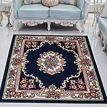 Europäische schlafzimmer wohnzimmer kaffeematte / bett vorderes zimmer sofa teppich matratze rechteckige dekoration ( Farbe : Blau , größe : 240*330cm )