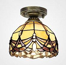 Europäische Schlafzimmerdecke Tiffany-Lampen