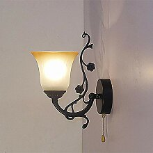 Europäische Schmiedeeisen Wandlampe pastoralen