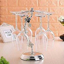 Europäische Schmiedeeisen Weinglas Rack Upside