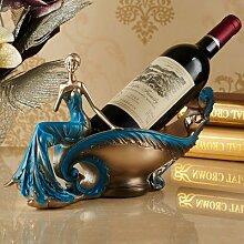 europäische schönheit wein rack zubehör harz handwerk inneneinrichtungsgegenstände modernen luxus - wohnzimmer kabinett eingerichtet.,alle blauen obst wein inhaber table