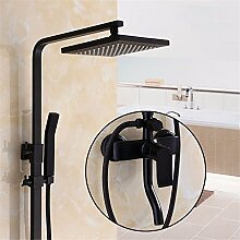 Europäische Schwarz Duscharmatur Vier Badezimmer Dusche Gesetzte Kupfer Mit Kompressor, F