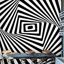 Europäische Schwarz-Weiß Zebrastreifen Tapete 3D