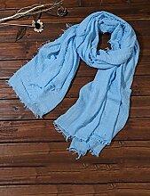 Europäische Sommer Frühling Frauen reine Farbe Sonnenschutz Schals UV Strand Handtuch langen Schal Schal großen Chiffon (11 Farben der gleichen Größe) ( Farbe : I )