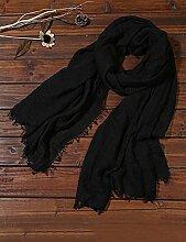Europäische Sommer Frühling Frauen reine Farbe Sonnenschutz Schals UV Strand Handtuch langen Schal Schal großen Chiffon (11 Farben der gleichen Größe) ( Farbe : A )