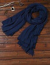 Europäische Sommer Frühling Frauen reine Farbe Sonnenschutz Schals UV Strand Handtuch langen Schal Schal großen Chiffon (11 Farben der gleichen Größe) ( Farbe : B )