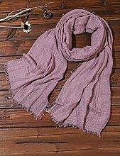 Europäische Sommer Frühling Frauen reine Farbe Sonnenschutz Schals UV Strand Handtuch langen Schal Schal großen Chiffon (11 Farben der gleichen Größe) ( Farbe : H )