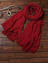 Europäische Sommer Frühling Frauen reine Farbe Sonnenschutz Schals UV Strand Handtuch langen Schal Schal großen Chiffon (11 Farben der gleichen Größe) ( Farbe : D )
