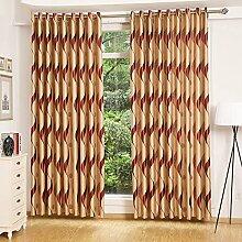 Europäische Sonnenschutz Vorhang/Moderne Wohnzimmer Schlafzimmer Boden bis zur Decke Erker Vorhänge-B 300x270cm(118x106inch)