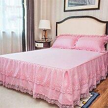 Europäische Stil Baumwolle Anti-Rutsch-Lace Bed Rock Bettdecke Einzelbetten Bett Covers Kissenbezug ( farbe : # 4 , größe : 180x220cm )