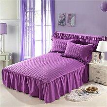 Europäische Stil Baumwolle Bett Rock Lace Bettdecke Bett Schutz einzigen Steppdecke (4 Stück) ( farbe : # 9 , größe : 150*200cm )