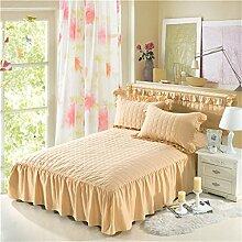 Europäische Stil Baumwolle Bett Rock Lace Bettdecke Bett Schutz einzigen Steppdecke (4 Stück) ( farbe : # 6 , größe : 120*200cm )