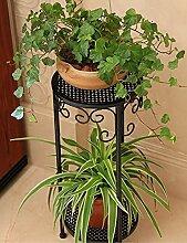 Europäische Stil Blumenregal Kreative Eisen Multilayer Blumenregal Balkon Boden Pflanzer Regal Einfache Moderne Wohnzimmer Indoor Flower Rack (3 Styles verfügbar) ( farbe : B , größe : 30*70CM )