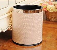 Europäische - Stil Doppel - Decker Trash Wohnzimmer Mode Kreative Mülleimer Edelstahl Küche ( farbe : # 4 )