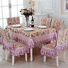 Europäische Stil Home Tisch Tuch Tuch Rechteck Wallpaper Luxus Blume Yi Yi ( größe : 130*130cm )
