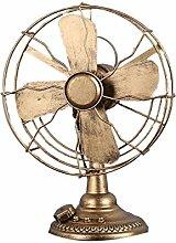 Europäische - Stil Jahrgang Elektrischen Ventilator Modell Home Decoration,Copper