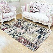 Europäische Stoff Teppich/ das Wohnzimmer Couchtisch Wohnzimmerteppich/Matten neben dem Bett-B 120x180cm(47x71inch)