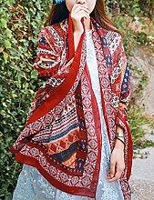 Europäische - Style Frühling, Sommer, Herbst und Winter Damen Retro-Stil Schals Schal Reise Strand Sonnenschutz-Schal-Schal