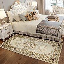 Europäische Teppich, Schlafzimmer, Bett, rechteckig, Wohnzimmer, Sofa, Tisch Matte, Garten, amerikanische Familie, maschinenwaschbar, 0,8 x 1,8 m, 06 ICH