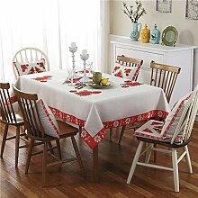 Europäische Tischdecke Baumwolle Leinen